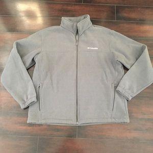 Columbia Gray Zip Up Light Weight Jacket